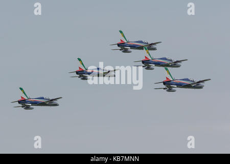 Frecce Tricolori at luchtmachtdagen - Stock Photo