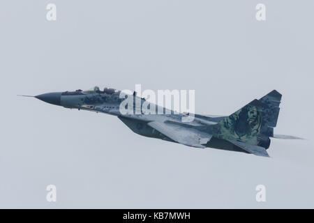 Leeuwarden Netherlands June 11 2016: Slovak Air Force MiG 29 - Stock Photo