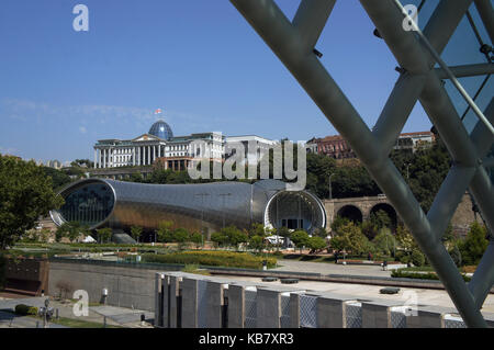 Concert Hall in national park in Tbilisi, Georgia - modern architecture - Stock Photo