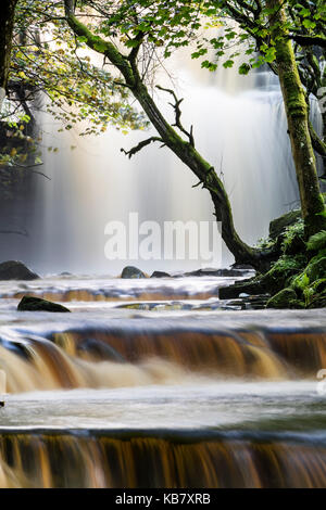 Summerhill Force and Bowlee Beck, Bowlees, Upper, Teesdale, County Durham, UK - Stock Photo