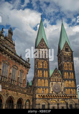 Bremen Cathedral Germany ,St. Petri Dom zu Bremen - Stock Photo
