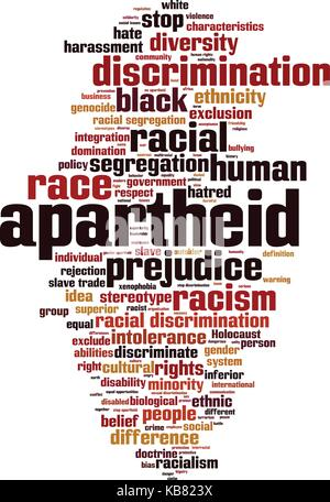 Apartheid word cloud concept. Vector illustration - Stock Photo