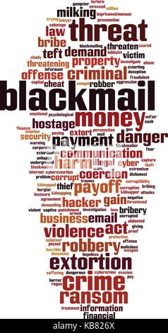 Blackmail word cloud concept. Vector illustration - Stock Photo