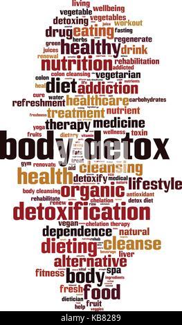 Body detox word cloud concept. Vector illustration - Stock Photo