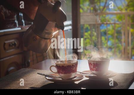 Moka pot - Stock Photo
