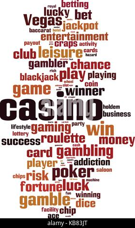 Casino word cloud concept. Vector illustration - Stock Photo