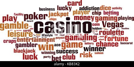 Casino word cloud concept. Vector illustration - Stock Photo