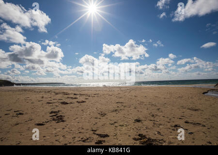 Family on Eoropie Beach, Isle of Lewis in the parish of Ness, in the Outer Hebrides, Scotland - Stock Photo