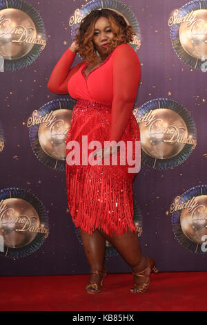 Strictly Come Dancing 2017 Launch  Featuring: Chizzy Akudolu Where: London, United Kingdom When: 28 Aug 2017 Credit: - Stock Photo