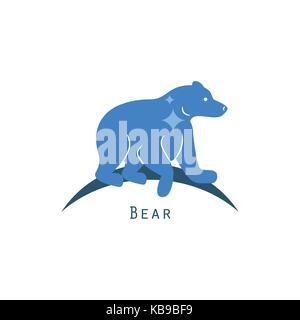 Polar bear logo concept vector. - Stock Photo