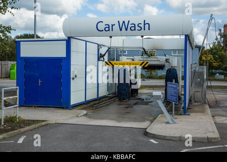 Self car cleaning at the car washing centre stock photo royalty self car cleaning at the car washing centre tesco car wash in leigh england uk stock photo solutioingenieria Image collections
