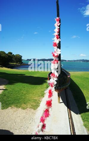 The Treaty Grounds at Waitangi, New Zealand - Stock Photo
