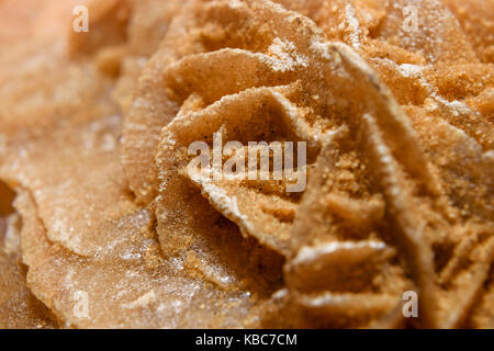 Extreme Close-Up Of Sand Selenite Rose Or Desert Rose From The Sahara Desert - Stock Photo