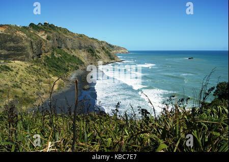 Muriwai Beach Auckland, New Zealand - Stock Photo