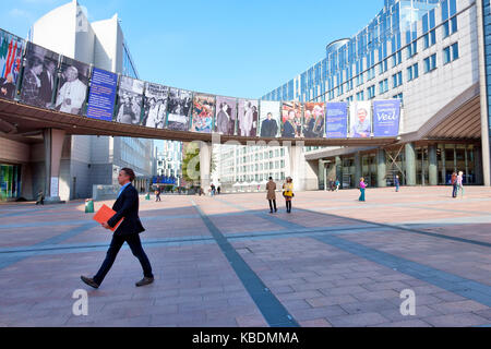 European Parliament, Brussels, Belgium - Stock Photo