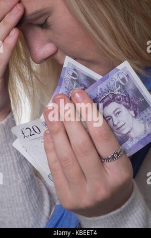 Money worries - Stock Photo