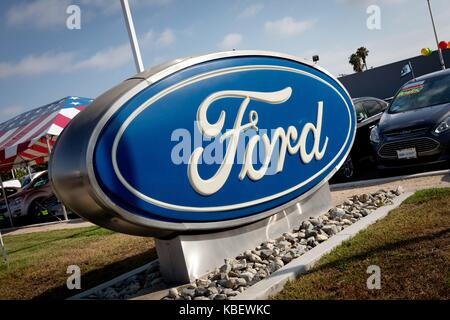 San Diego Ford Dealers >> Ford Logo At Mossy Ford Car Dealer At Mission Bay Drive In