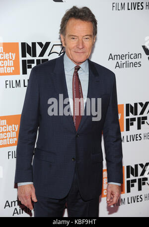 New York, NY, USA. 28th Sep, 2017. Bryan Cranston attends 55th New York Film Festival opening night premiere of - Stock Photo