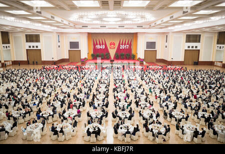Beijing, China. 30th Sep, 2017. A reception is held by the State Council to celebrate the 68th anniversary of the - Stock Photo