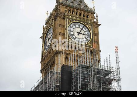 London, UK. 30th Sep, 2017. A new report released by parliament states the repair costs for the Elizabeth Tower - Stock Photo