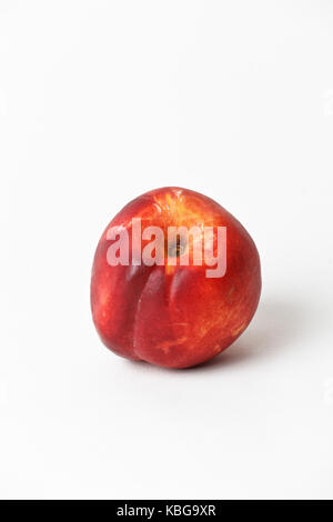 Nectarine on white background. Cut out - Stock Photo