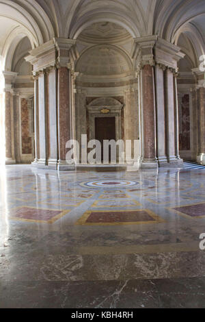 Caserta, Italy, August 14, 2014: Royal Palatine Chapel, entrance foyer. It has been  projected by Italian Architect - Stock Photo