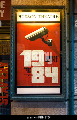 1984, a play based on the iconic dystopian novel by George Orwell at the Hudson Theatre in New York City - Stock Photo