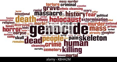 Genocide word cloud concept. Vector illustration - Stock Photo