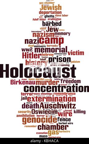 Holocaust cloud concept. Vector illustration - Stock Photo