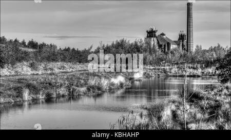 Pleasley Colliery - Stock Photo