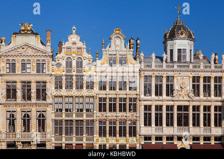 Old Guild Houses at the Grand Place in Brussels, Belgium. - Stock Photo
