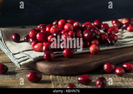 Raw Red Organic Cranberries Ready to Cook With - Stock Photo