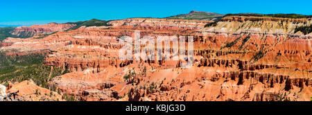 Black and White Panormic View of Cedar Breaks National Monument - Stock Photo