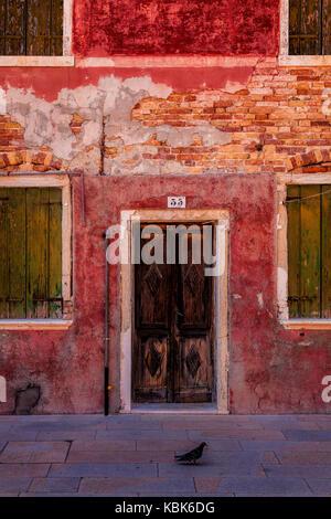 Façade in Burano, Italy - Stock Photo