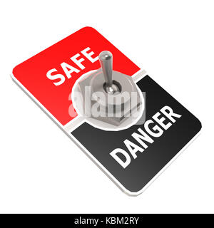 Safe toggle switch image with hi-res rendered artwork that could be used for any graphic design. - Stock Photo