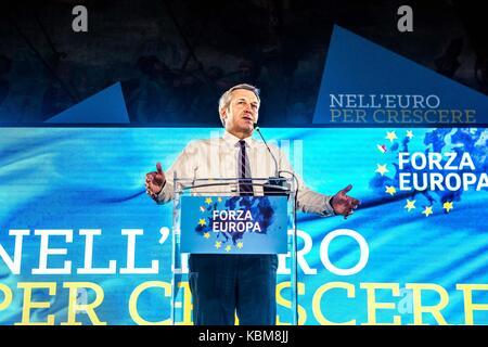 Italian politician Bendetto Della Vedova during a Forza Europa convention in Milano, Italy - Stock Photo
