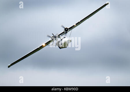 Consolidated PBY Catalina flying boat amphibian. - Stock Photo