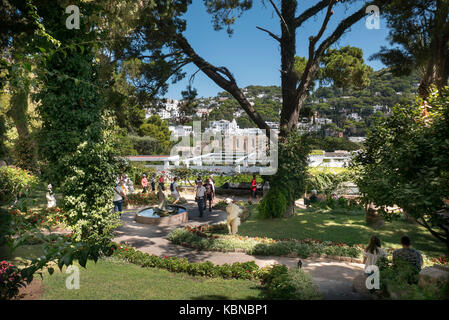 ... Neptune Gardens At Capri In Italy, From The Gardens Of Augustus One Can  Get A