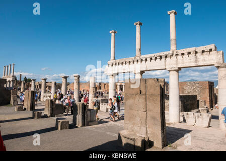 The Ancient  Ruins of Pompeii in Campania Italy. - Stock Photo