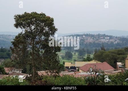 Residential Neighborhoods in Kigali, Rwanda - Stock Photo