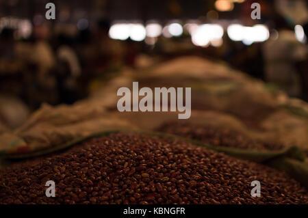 Beans at Kimironko Market in Kigali, Rwanda - Stock Photo