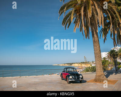 Cabrio beetle on holidays in Algarve, Portugal - Stock Photo