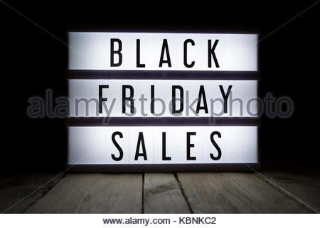 'Black friday sales' text in lightbox - Stock Photo