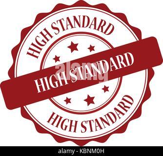 High standard red stamp illustration - Stock Photo