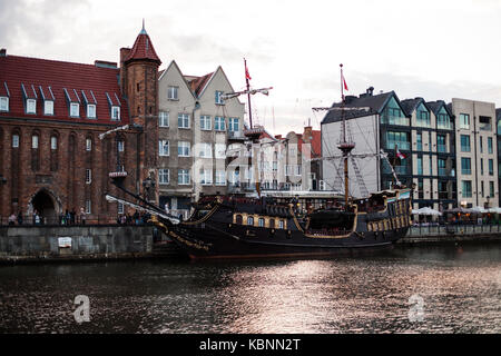 Poland, Gdansk. Urban life. Landscape old architecture of a Big City - Stock Photo