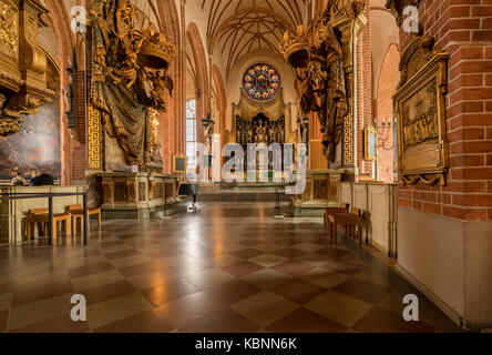 Interior of Storkyrkan cathedral in Stockholm - Stock Photo