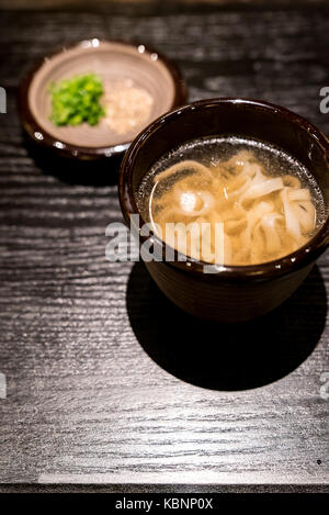 Japanese Kishimen udon noodles soup - Stock Photo