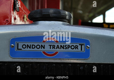 Former London Transport RTW Leyland Titan PD2 KGK 529 is seen at the West of England Transport Collection Open Day - Stock Photo