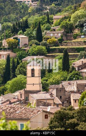 Village Cotignac Provence Verte Provence /Alpes Cote D'Azur, Var France (83), - Stock Photo