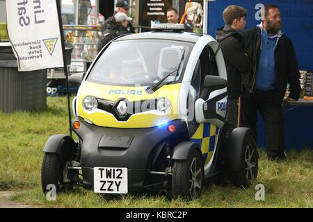 Renault Twizy electric police car at the first airshow held on Sepember at RAF Scampton on the outskirts of the - Stock Photo